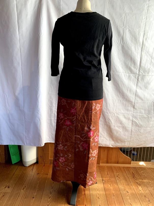 羽織りからサロンスカート